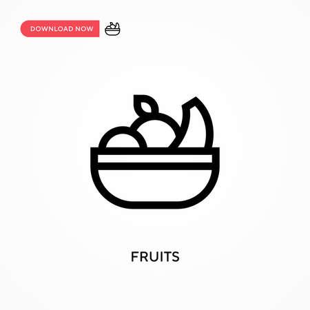 Fruits Simple vector icon. Modern, simple flat vector illustration for web site or mobile app Illusztráció