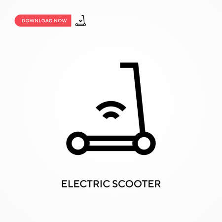 Electric scooter Simple vector icon. Modern, simple flat vector illustration for web site or mobile app