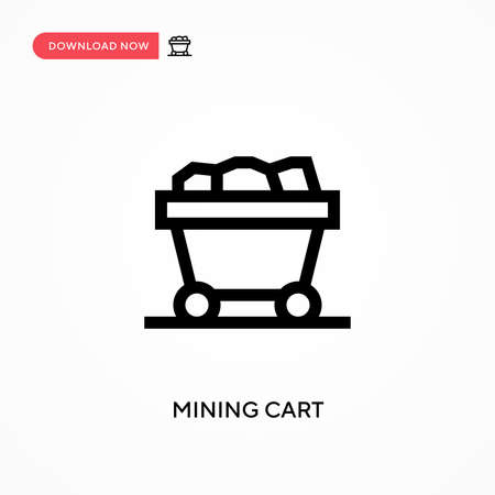 Mining cart Simple vector icon. Modern, simple flat vector illustration for web site or mobile app Иллюстрация