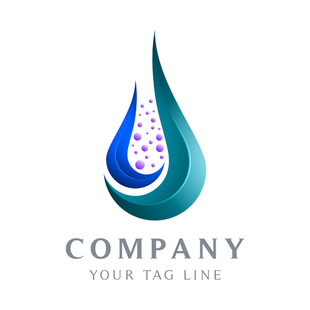 the abstract water drop logo template falls for businesses in the health and environmental fields.