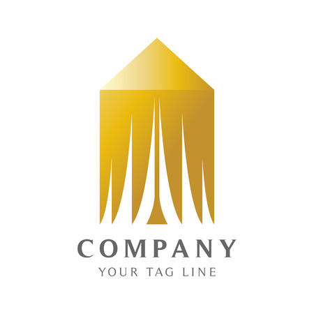 Luxury tent logo template for the target market of the rich.