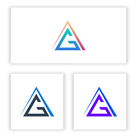 the logo G letter template with a triangle for your company and business.