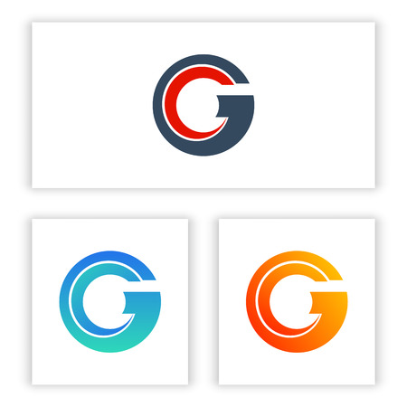 logo letters C and G with abstract shapes. Standard-Bild - 122199253