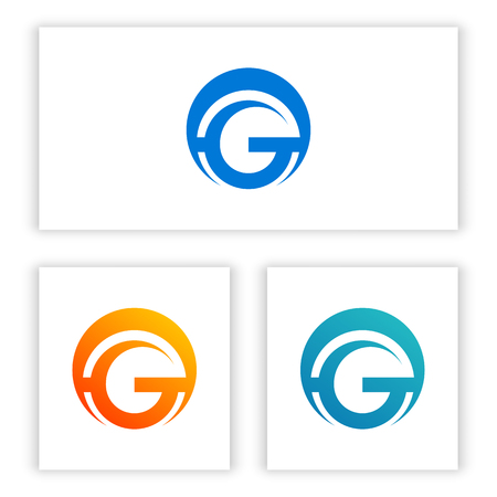 G letter logo template for your business in digital and technology. Illusztráció