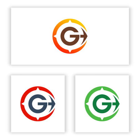 logo letter G template and the direction for your business.