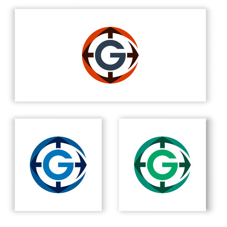 logo letter G template and the direction for your business. Illusztráció