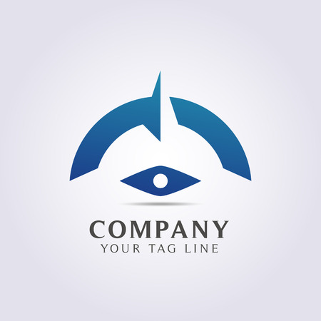 modern compass abstract logo template for your company and business.