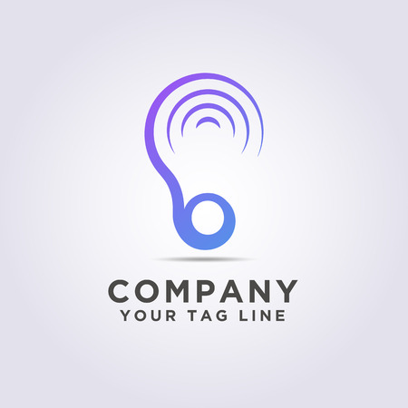 logo ear shape template with a modern style for your business and company.