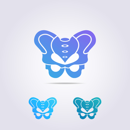 a butterfly logo template that resembles a pelvic bone with a unique shape for your business and brand.