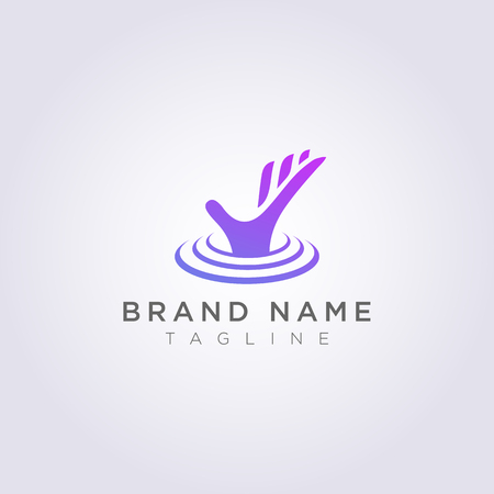 Design hand logos that come out of underwater for your Business or Brand.