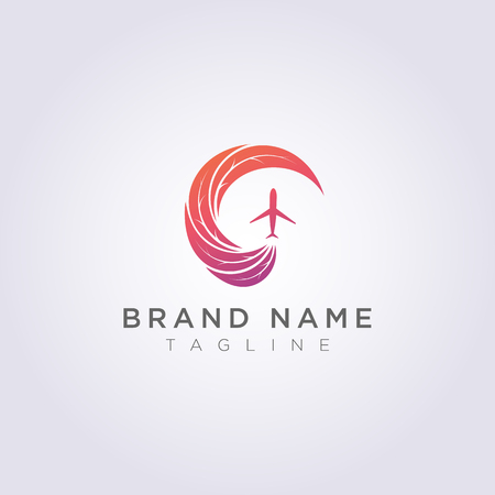 Logo Design Combined circular leaves with abstract shapes and planes for your Business or Brand.