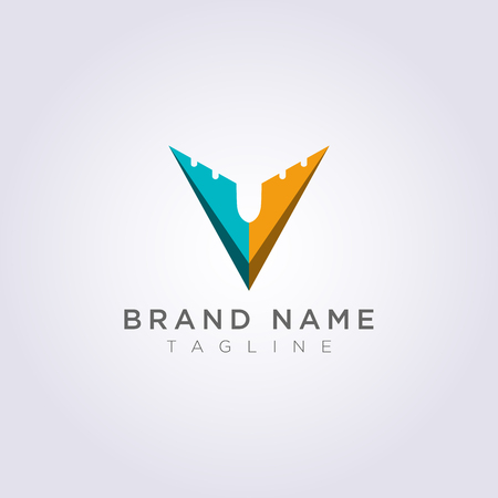 Logo Design Combined V and planes for Business or Your Brand. Vectores
