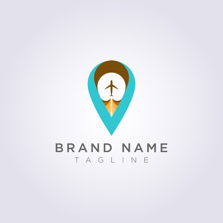 Logo Design Combined letters V, planes and destination symbols for your Business or Brand.