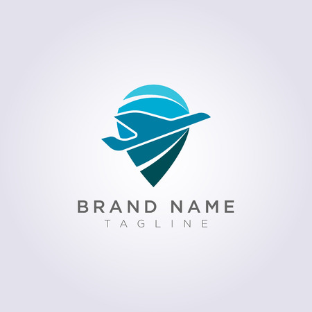 Logo Design Combined planes and destination symbols for your Business or Brand.  イラスト・ベクター素材