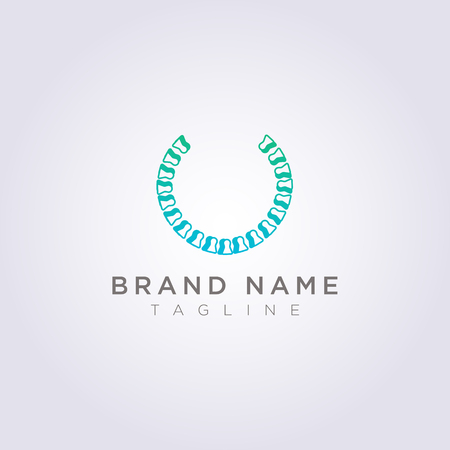 Circle bone logo design for your business or brand. Stock Illustratie