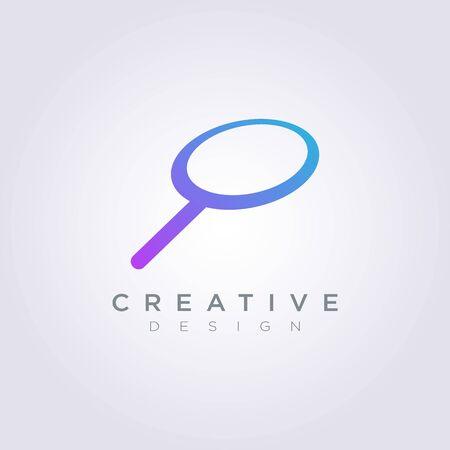 Logo Design Vector Symbol Magnify Icon.