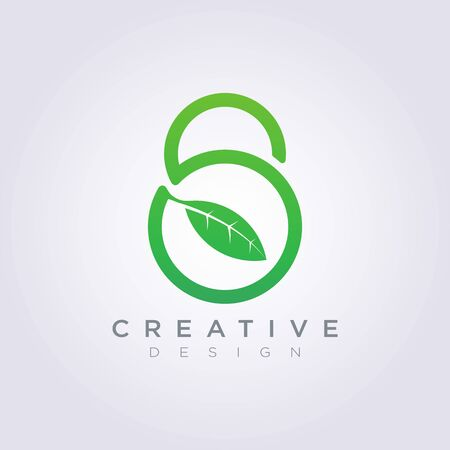Padlock Leaf Template Design Company Logo Vector Symbol Icon.