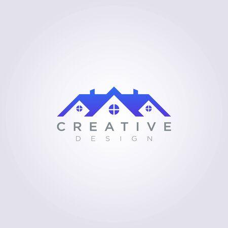 House Roof Vector Illustration Design Clipart Symbol Logo Template.