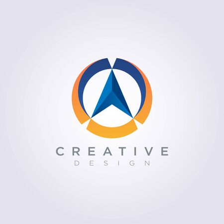 Compass Vector Illustration Design Clipart Symbol Logo Template.