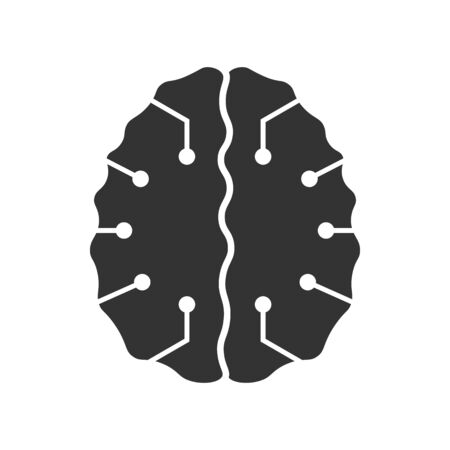 Brain with a modern form. Logo for the technology business. Cool design for brands or labels.