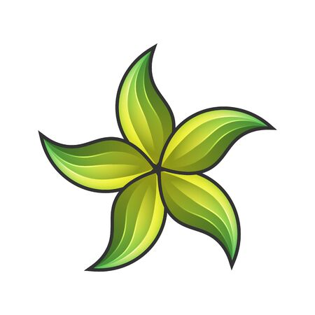 Vector Flowers with bright colors. A logo for businesses around beauty or nature. Design for brands and labels.