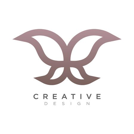 Vector Leaf with bright colors. A logo for businesses around beauty or nature. Design for brands and labels.