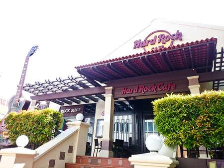 MELAKA, MALAYSIA - April 13, 2018 : View outside of Hard Rock Cafe Malacca located nearby Malacca River.