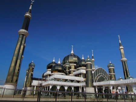 TERENGGANU, MALAYSIA - Disember 21, 2012 : A view of Kristal Mosque located at Kuala Terengganu. An architecture of this mosque build by glass an became as attraction for tourist