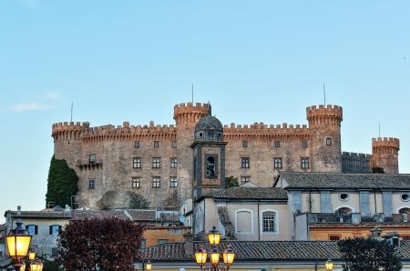 A view ohf historical centre of Bracciano a nice village near to Rome, with Orsini-Odescalchi castle. Standard-Bild