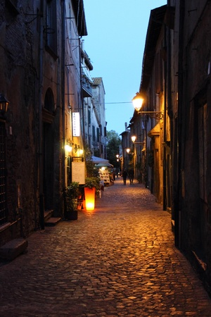 A wiev of a little street of historical centre of Bracciano, a nice village near Rome, Italy photo