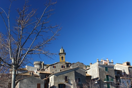 A photo of Bracciano Historic centre taken in a sunny, clear day  Bracciano is a nice village near Rome, Italy photo