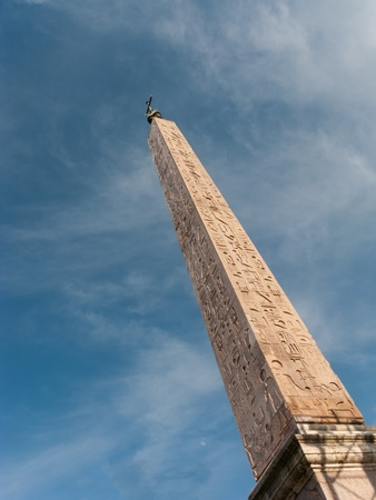 The egyptian obelisk in Piazza dle Popolo, Rome, Italy in a clear, sunny day Stock Photo - 18959305