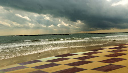 gale: Chessboard on the beach