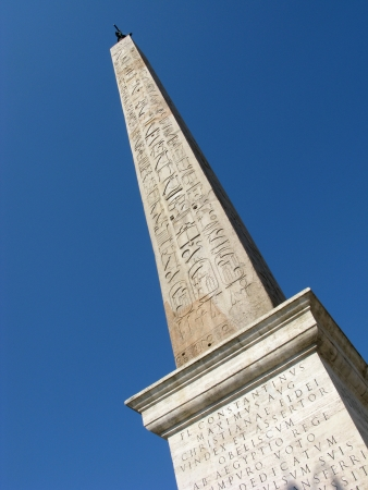 The egyptian obelisk in Piazza San Giovanni in Laterano, Rome, Italy in a clear, sunny day   photo