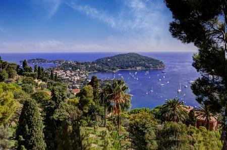 The peninsula of Saint Jean Cap Ferrat near Nice, Cote d Banco de Imagens