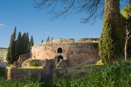 The monument to Augusto, Emperor of ancient Rome, in the heart of