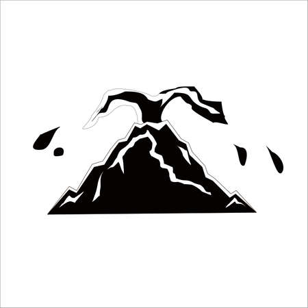 Black and white Erupted Mount icon
