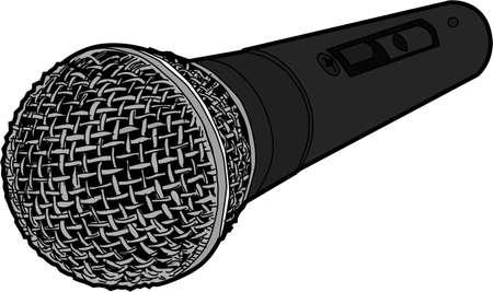 vocal: Vocal Microphone Illustration