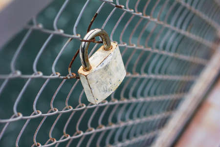 amorousness: the lock on the bridge with river view