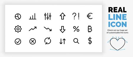 Editable line icons set, check out all our icons!