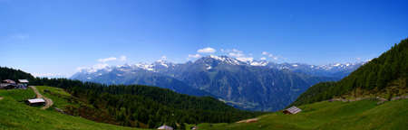 View on the Texel Group in South Tyrol, Italia photo