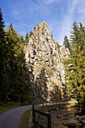 nuns: The Nuns rocks in the Erzgebirge, Germany Stock Photo