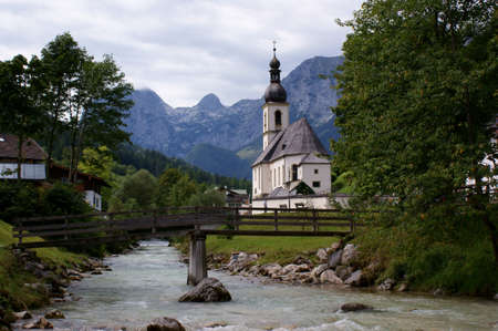 Village Church in Ramsau in the Berchtesgaden Alps in Germany photo