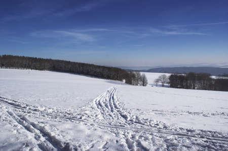 erzgebirge: Snowy Erzgebirge, Germany