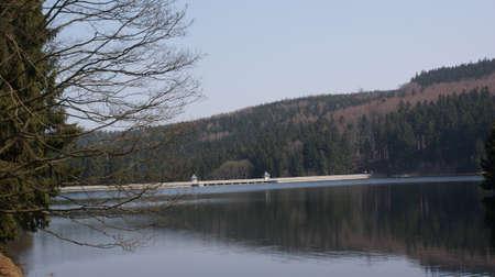 erzgebirge: The dam Neunzehnhain in Erzgebirge Stock Photo