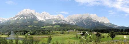 kaiser: Panorama from mountain range Wilder Kaiser in Tirol in Austria