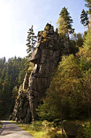 erzgebirge: Hiking in the Erzgebirge - The Nonnenfelsen in the Blackwater Valley