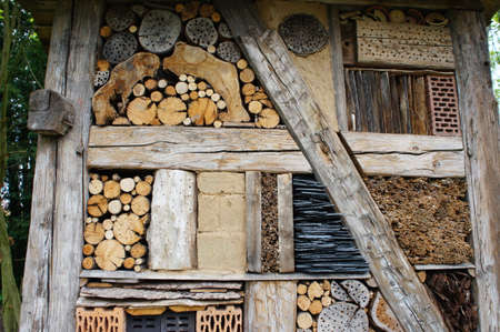 wintering: Insect hotel from natural materials for many kinds of insects, to breed and in winter for shelter