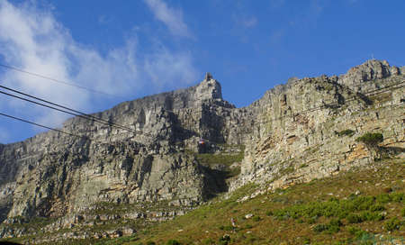 Cable car to the summit of the Table Mountain in Cape Town, South Africa Stock Photo