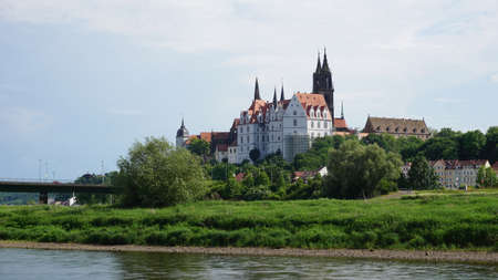 The Albrechtsburg in Meissen Germany, the building in Saxony with the Elbe River